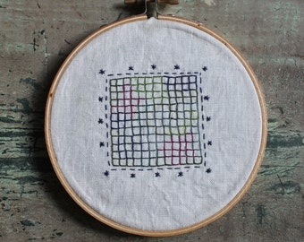 Rainbow graph paper hoop