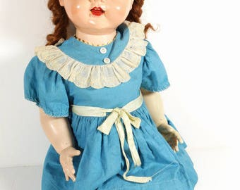 50s Saucy Walker - Vintage 1950s Ideal Doll Midcentury Large Doll