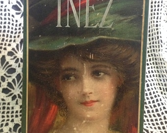 Vintage Recycled Book Journal - Inez
