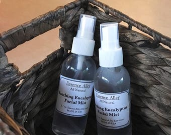 Soothing Eucalyptus Facial Mist, Naturally Uplifting Facial Spray