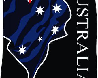 Australia Custom Flag Fleece Blanket