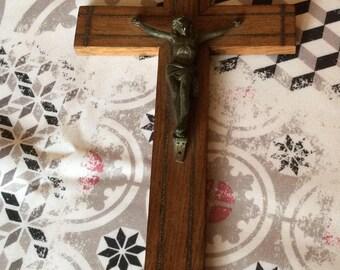 French crucifix, Jesus in bronze