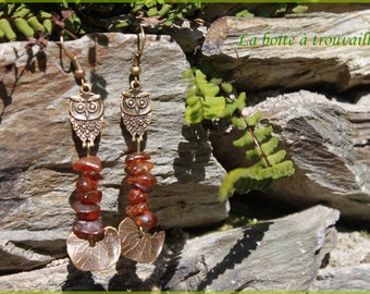 "Earrings ""Amber night"""
