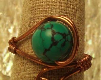 Copper & Turquiose Ring