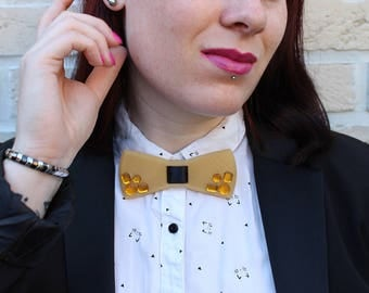 Customized hand - 3D print bow black and gold