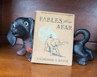 "Storybook Rare Book 1910 First Edition / Children's Book ""Fables from Afar"" by Catherine T. Bryce / Vintage Books Old Book Decorative Books"