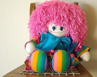 17in Clown Doll, Handmade Toy Clown