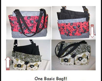 Chameleon bag/purse sewing Pattern