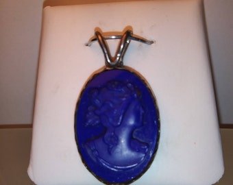 Vintage Sterling Cameo Pendant Or Pin
