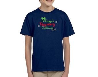 Mickey's Very Merry Christmas 2017 - Disney Family Shirts - MVMCP - Disney Holiday Shirt - Disney Kid's Shirt - Disney Boy's Shirt