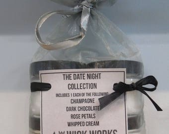 Four Pack Soy Candle Gift Set, The Date Night