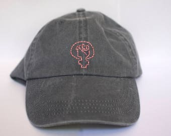 Intersectional Feminist Hat - Distressed Baseball Cap