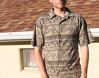 Hawaiian Jimmy Buffet Style Button Up