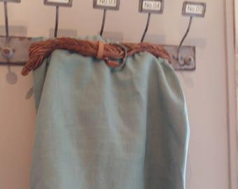 Skirt short linen