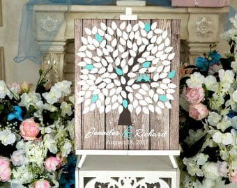 CANVAS Wedding Guest Book Canvas Guest book Alternative Wedding Guestbook Wedding Tree Guest book Gift for couple Bridal shower gift