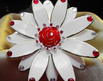 White and red Flower Barrett
