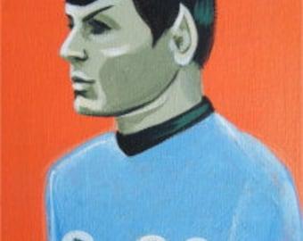 El Gato Gomez Vintage TV Star Trek Spock Devo Punk Art Print