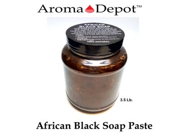 Natural African Black Soap Paste 100% Raw Pure WHOLE SALE Available in 8 oz, 16 oz, 32 oz & 3.5 Lbs