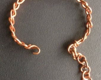 Copper wire bracelet, copper bracelet Celtic wire wrapping.  (SB1)