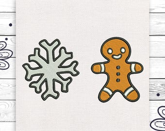 Christmas cookie Snowflake embroidery Christmas embroidery Cute little embroidery Decoration INSTANT DOWNLOAD EE5162