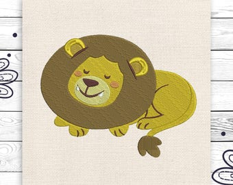 Lion embroidery Kids embroidery Digital embroidery design 3 sizes Cute little lion Embroidery for kids INSTANT DOWNLOAD EE5177