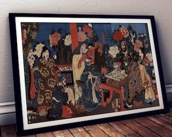 Japanese art print / Asian art print / Japanese drawing / Japanese painting / Asian drawing / Asian art painting / Japanese art deco