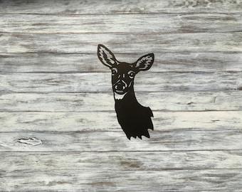 Metal Deer Head, wall decor, cabin decor, metal art