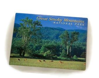 Vintage Great Smoky Mountain National Park Tourist Souvenier Photo Refrigerator Magnet