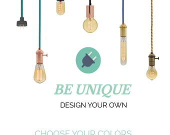 plug in pendant light design your own any custom lengths and colors