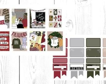 Christmas feels weekly planner sticker kit