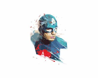 Captain America 3 Svg, The avengers, Superhero, Vector Captain America, Colorful Captain America, Captain America Shirt, Marvel hero