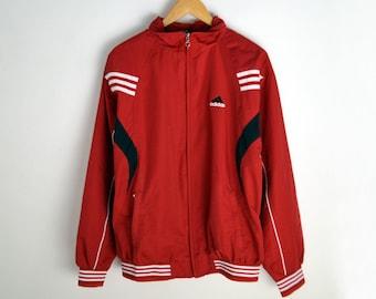 Adidas Windbreaker women L 90s windbreaker Adidas Vintage Windbreaker Vintage windbreaker Adidas jacket 90s Adidas 3 stripes Vintage jacket