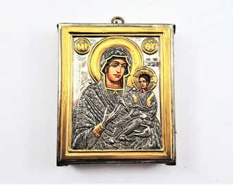 Silver Mary Mother of God Icon