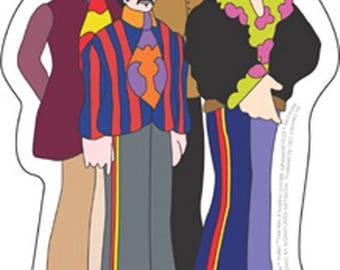 BEATLES WINDOW Sticker --The Beatles - Yellow Submarine Animated Band Portrait