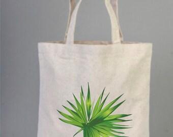 Palm Leaf, Palm Leaf Tote Bag, Tropical Palm Leaf, Jungle Leaves, Green Leaves Tote, Shopping Bag, Everyday Bag, Natural Tote, Botanical Bag