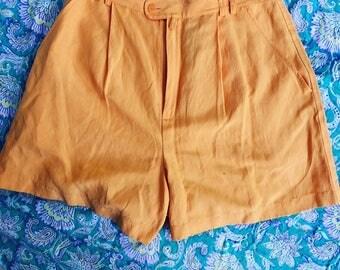 Vintage Orange High Waisted Short