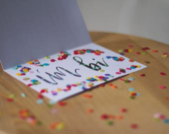Hi, I'm Bi - Coming Out Card Kit with Confetti