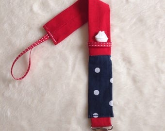 "Attach pacifier or ties ""petit bateau"" blanket - mixed"