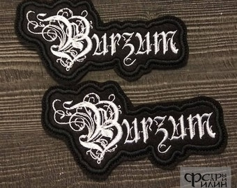 Burzum Patch logo black metal burzum
