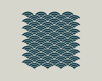 Waves stencil (ref 808)
