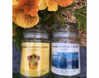 A Harry Potter Candle *Large* - Various Scents & Designs Available