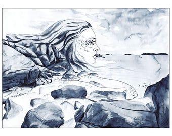 "Illustration ""Breton coast"""