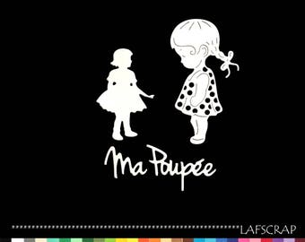 Scrapbooking cuts child girl dress my doll baby birth Word Princess embellishment Scrapbook die cuts