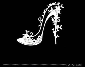 2 cut scrapbooking scrap shoe flower wedding wedding scrapbooking embellishment die cut scrap album fairy princess