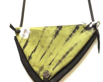"""African batik """"bi-poches"""" shoulder bag"""