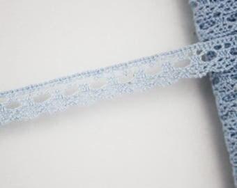 Clear 10 mm, bobbin lace trim, 1 meter Ribbon lace