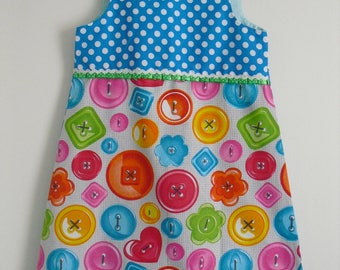 "Very cute dress ""My pretty buttons"" T 8 years"