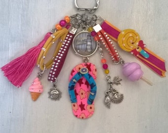 """""""beach"""" and """"holiday"""" theme jewelry bag"""