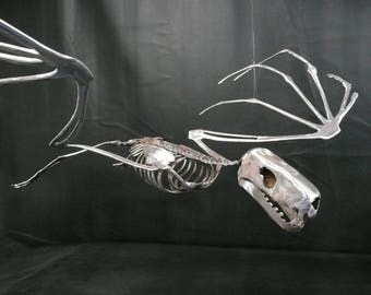 Metal Bat Skeleton in flight