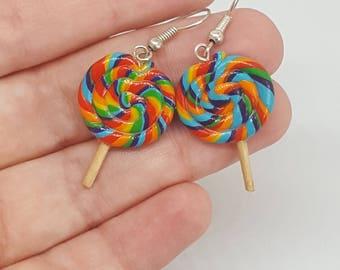 greedy earrings multicolored lollipop fimo for women teen girl
